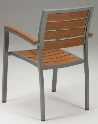 Vito Artificial Teak And Aluminium Armchair
