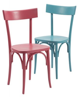 Volt Coloured Wooden Dining Chairs