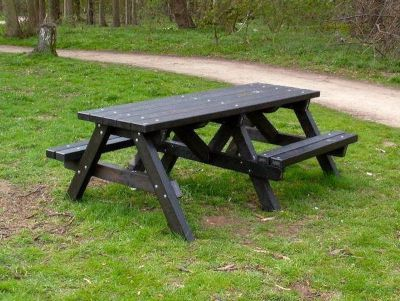West Chunky Picnic Tables With Wheelchair Accesss 1