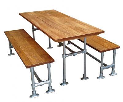 Scaffold Sawn Timber Dining Set 3