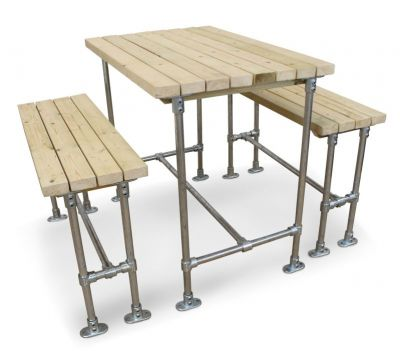 Scaffold Outdoor Bar Height Dining Set