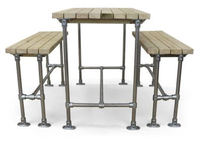 Scaffold Outdoor Bar Height Dining Set 2