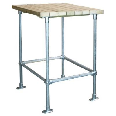 Scaffold Square Outdoor Bar Height Table