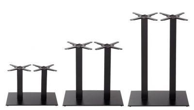 Sykes Black Twin Pedestal Table Basses