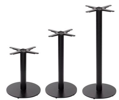 Sykes Medium Black Round Table Bases