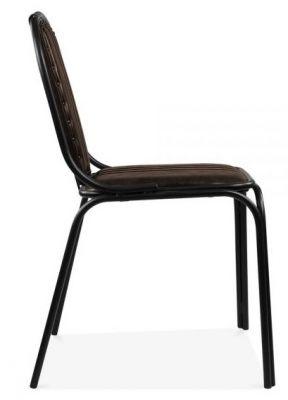 Designer Dining Chair Steel Frame Stitching