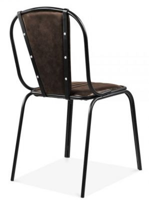 Studded Designer Leather Dining Chair