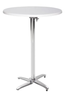Moby Next Day Flip Top Poseur Table With A White Werzalit Top