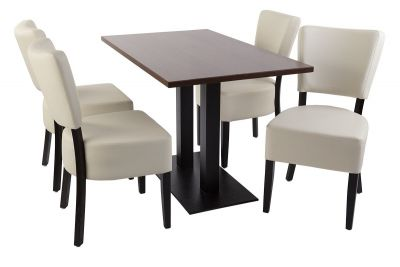 Rosie V4 Dining Set With Chairs Ion Soft Cream
