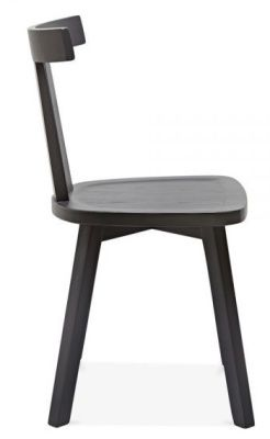 Designer Dark Grey Wooden Dining Chair