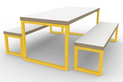 Benny Bench Dining Set Yellow