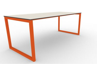Benny Bench Table Outdoors Orange