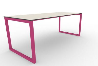 Benny Bench Table Outdoors Pink