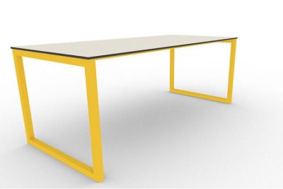 Benny Bench Table Outdoors Yellow