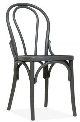 Tulip Design Wood Grey Bistro Chair
