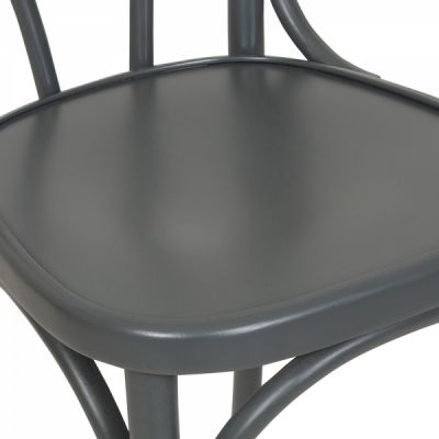 Designer Wood Bistro Chair Grey