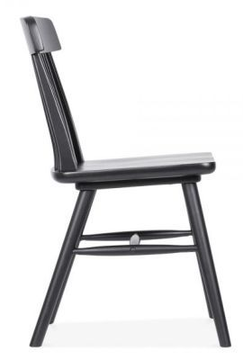 Classic Pub Style Design Dining Chair Black