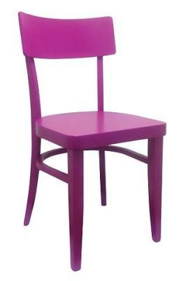 Bright Colour Wood Dining Chair