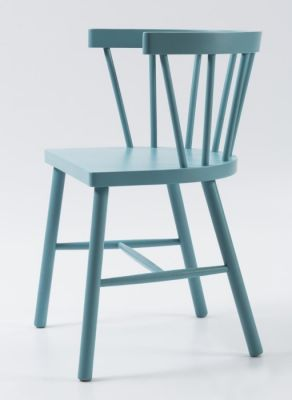 Ral Colour Spindle Dining Arm Chair Wood