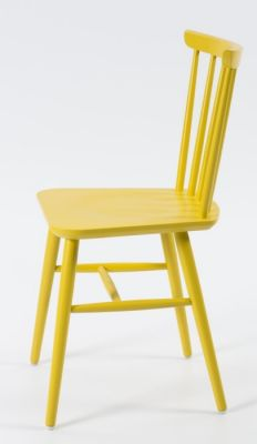 Yellow Designer Spindle Dining Chair
