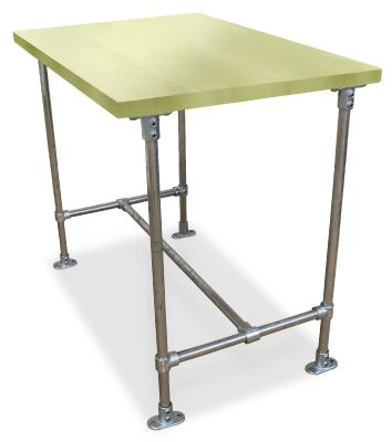 Urban Scaffold Bar Height Table- Laminate Top - Green