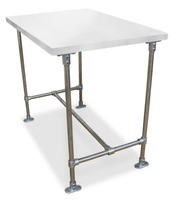 Urban Scaffold Bar Height Table- Laminate Top - Grey