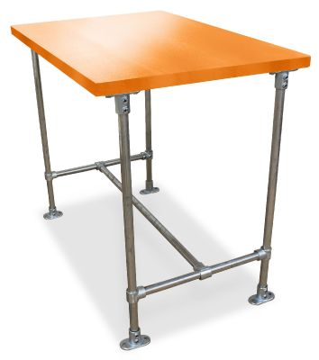Urban Scaffold Bar Height Table- Laminate Top - Orange