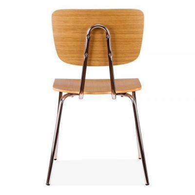 Chrome Wood Cafe Chair Leola Dining