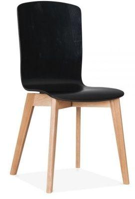 Designer Wood Chair Black Montreal