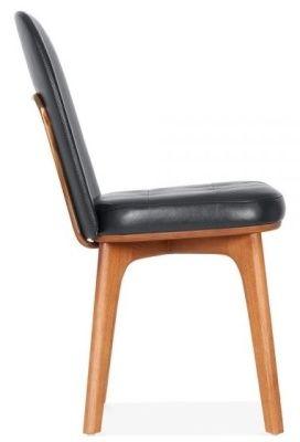 Designer Gabor Black Leather Chair Dining