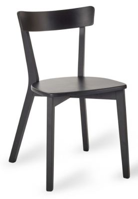 Black Designer Wood Dining Chair Albany