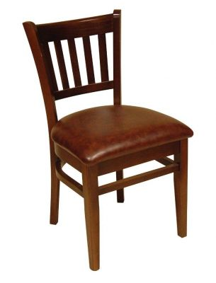 Tring Wood Upholstered Leather Dining Chair