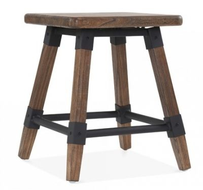 Tyrian Low Stool Brown Finish