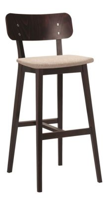 Designer Wooden Bar Stool Santino Cushion Seat