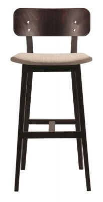 Santino Designer Wooden Bar Stool Upholstered Seat