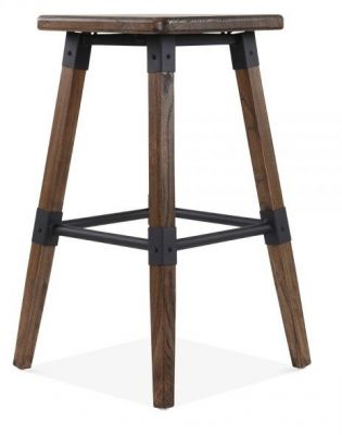 Deigner Tyrion Bar Stool Dark Wood