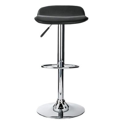 Cedar Bar Stool Chrome Black Seat