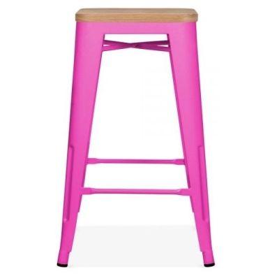 Tolix Seat Pad Hot Pink Finish