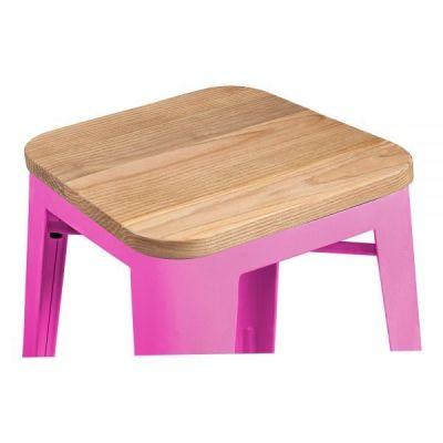 Hot Pink Bar Stool Tolix Wooden Seat Pad