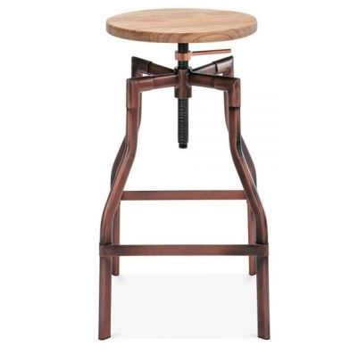 Valdemar Industrial Style High Stool