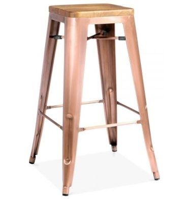 Light Copper Bar Stool Tolix