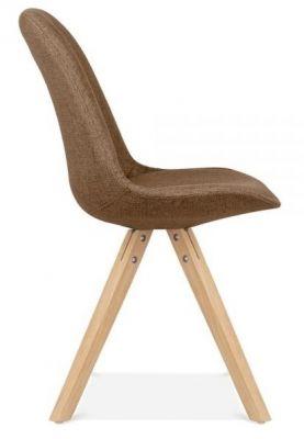 Pascoe Designer Chair Brown Fabric Natural