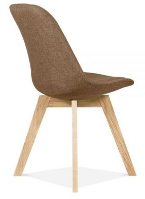 Aquilo Fabric Chair Brown