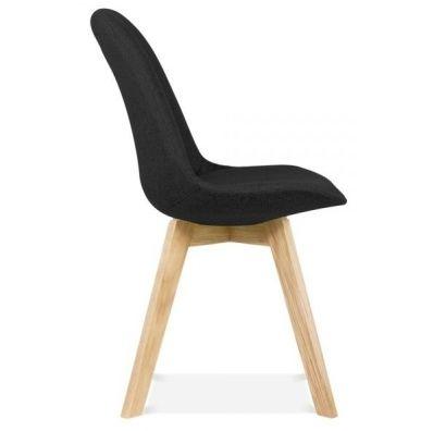 Aquilo Designer Fabric Chair Black