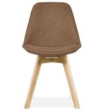 Aquyilo Designer Fabric Chair Brown