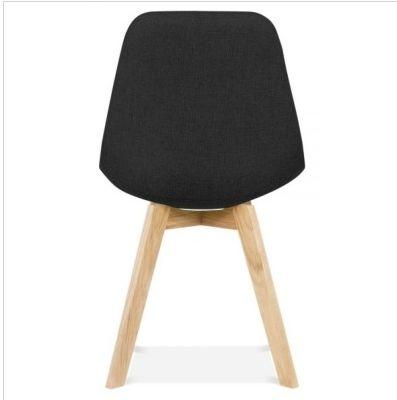 Black Designer Fabric Chair Aquilo