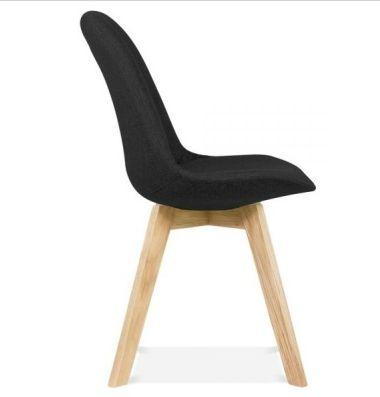 Black Fabric Designer Chair Aquilo