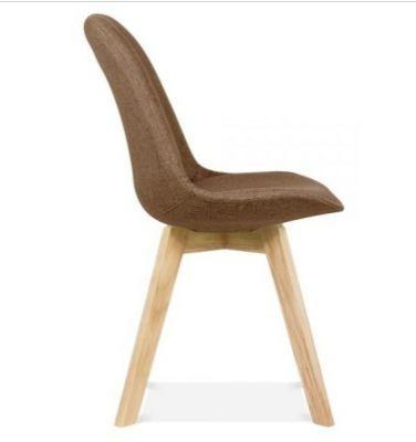 Brown Fabric Designer Chair Aquilo