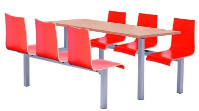 Rio Designer Fast Food Seating Six Seater