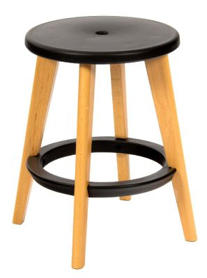 Tex Low Stool With A Black Seat